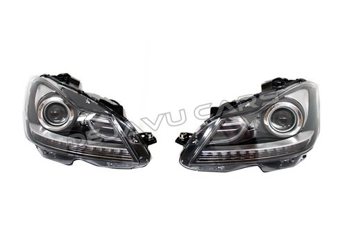 OEM LINE Facelift LED Bi Xenon Look Headlights for Mercedes Benz C-Class W204