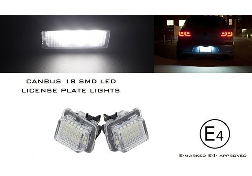 OEM LINE LED License Plate Lights for Mercedes Benz