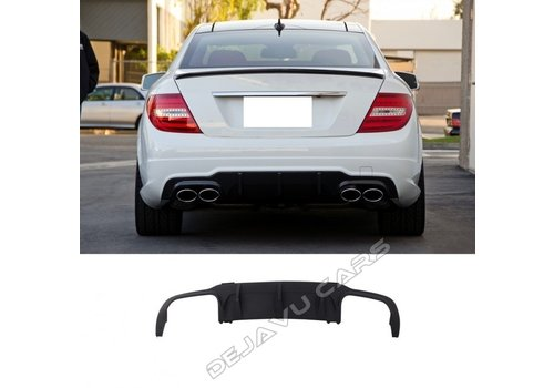 OEM LINE C63 AMG Look Diffuser for Mercedes Benz C-Class W204