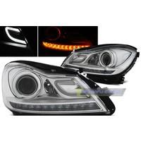 Bi Xenon Look LED Koplampen voor Mercedes Benz C-Klasse W204 Facelift