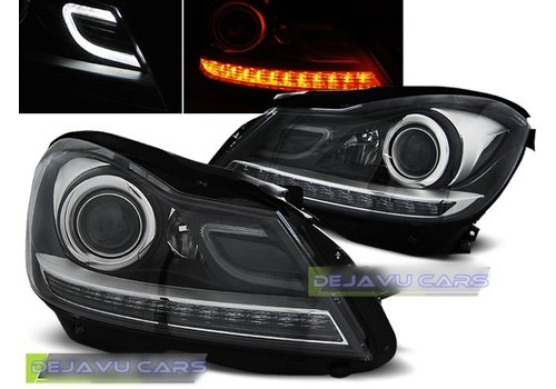 OEM LINE Bi Xenon Look LED Koplampen voor Mercedes Benz C-Klasse W204 Facelift