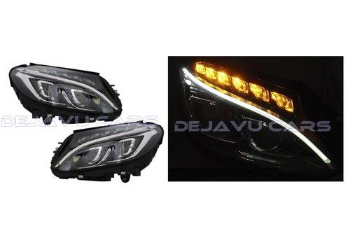 DEPO Bi Xenon Look LED Koplampen voor Mercedes Benz C-Klasse W205