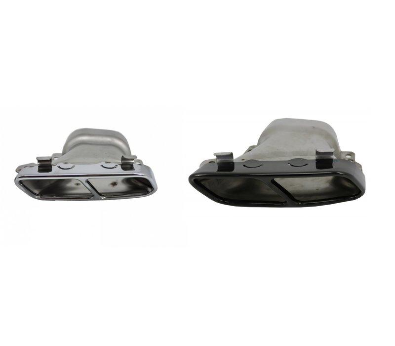 CLA45 AMG Look Auspuff Endrohr für Mercedes Benz CLA-Klasse W117 / C117