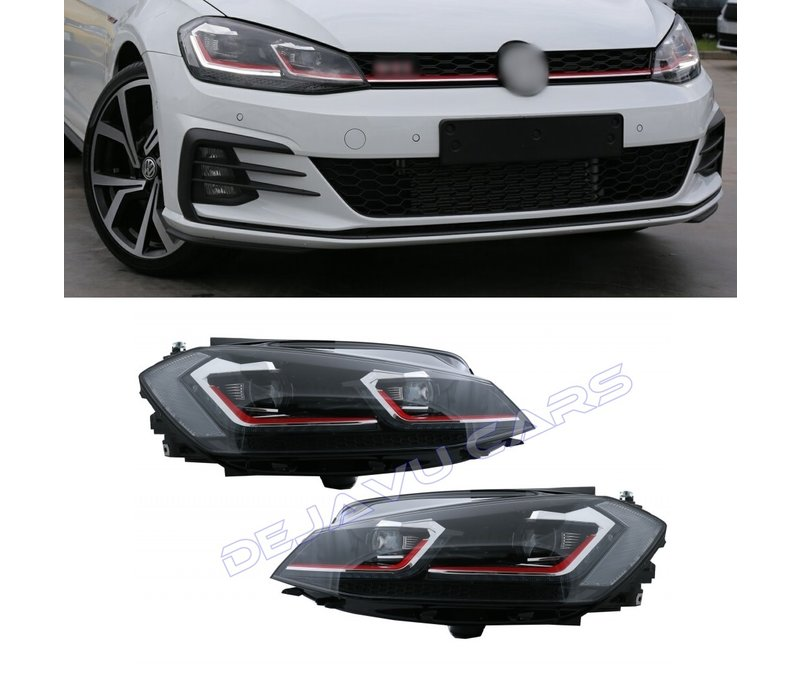 VW Golf 7.5 GTI Facelift Xenon Look Dynamic LED Headlights for Volkswagen Golf 7 Facelift