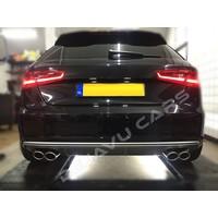 S3 Look Diffuser Platinum gray for Audi A3 8V (standard rear bumper)