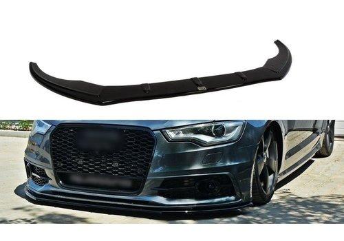 Maxton Design Front splitter voor Audi A6 C7 S line / S6