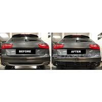 RS6 Look Diffuser voor Audi A6  C7 S line / S6