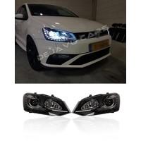 Bi Xenon Look LED Koplampen voor Volkswagen Polo 6R / 6C