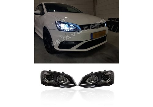 OEM LINE Bi Xenon GTI Look LED Headlights for Volkswagen Polo 6R / 6C
