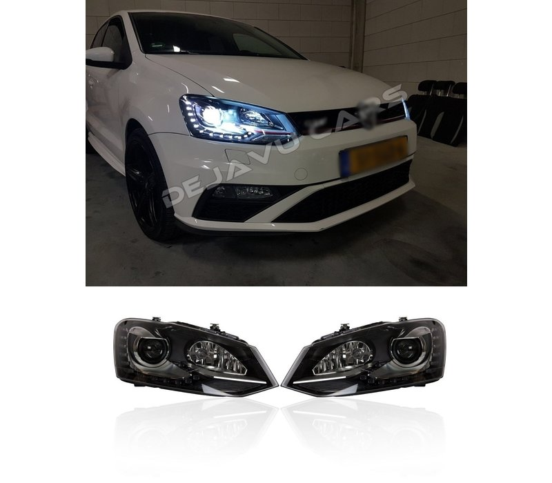 Bi Xenon Look LED Headlights for Volkswagen Polo 6R / 6C