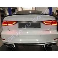 RS3 Look Diffusor für Audi A3 8V (standard hintere Stoßstange)