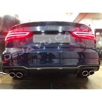 S3 Look Diffusor Black Edition für Audi A3 8V (S line hintere Stoßstange)