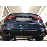 S3 Look Diffuser Black Edition for Audi A3 8V (S line rear bumper)