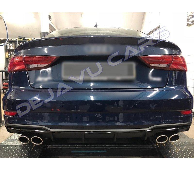 S3 Look Auspuffanlage für Audi A3 8V Limousine
