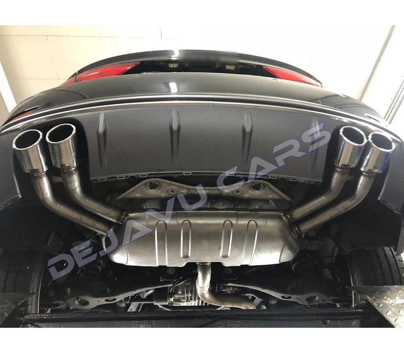 S3 Look Diffuser + Exhaust system for Audi A3 8V S line