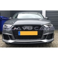 RS3 Look Front Grill  Black Edition for Audi A3 8V