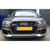 RS3 Look Kühlergrill Black Edition für Audi A3 8V