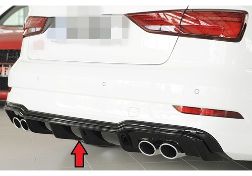 Rieger S3 Look Diffuser for Audi S3 8V / S line