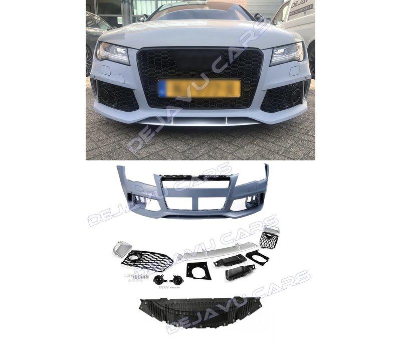 RS7 Look vordere Stoßstange für  Audi A7 4G