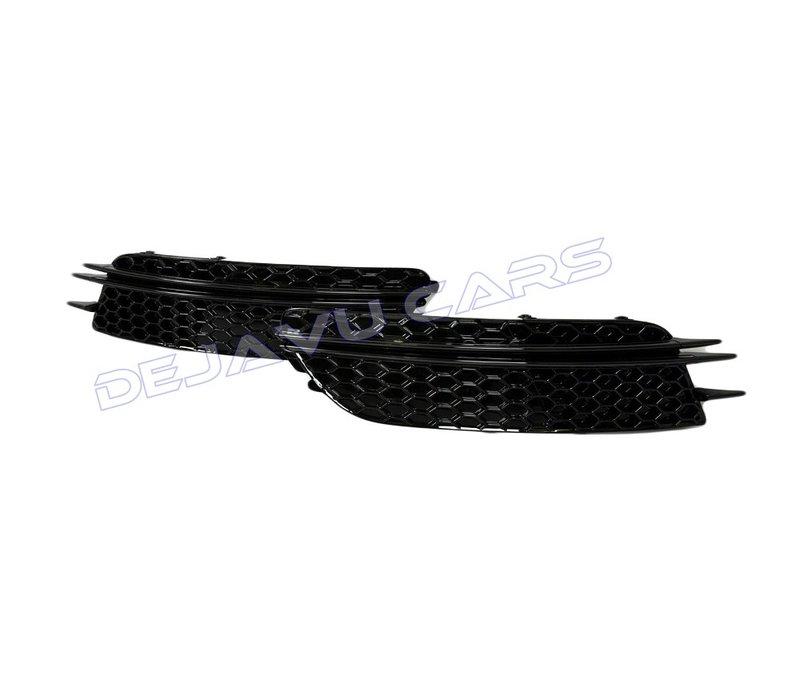RS6 Look Nebelscheinwerfergitter Black Edition für  Audi A6 C7