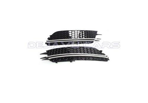 OEM LINE RS6 Look Nebelscheinwerfergitter Silver/Black Edition für  Audi A6 C7