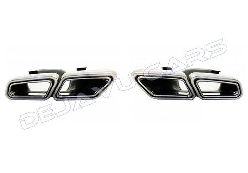 OEM LINE AMG Look Auspuff Endrohr für Mercedes Benz E-Klasse W212