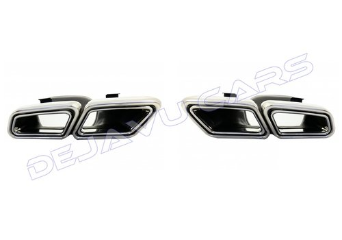 OEM LINE AMG Look Exhaust tips for Mercedes Benz E-Class W212