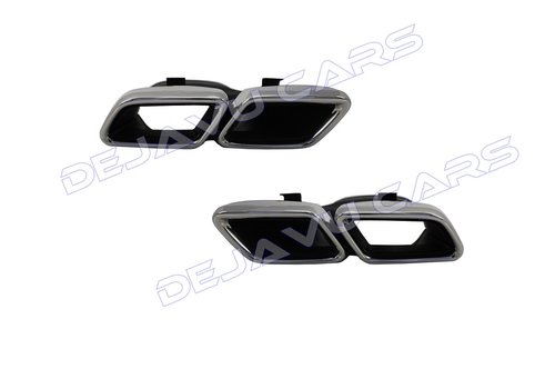 OEM LINE AMG Look Exhaust tips for Mercedes Benz C-Class W205