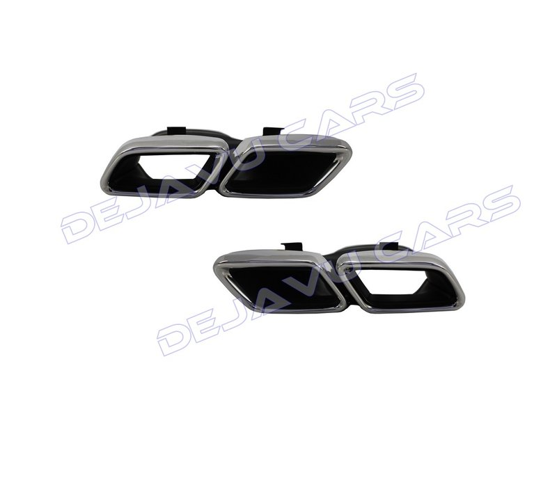 AMG Look Exhaust tips for Mercedes Benz C-Class W205