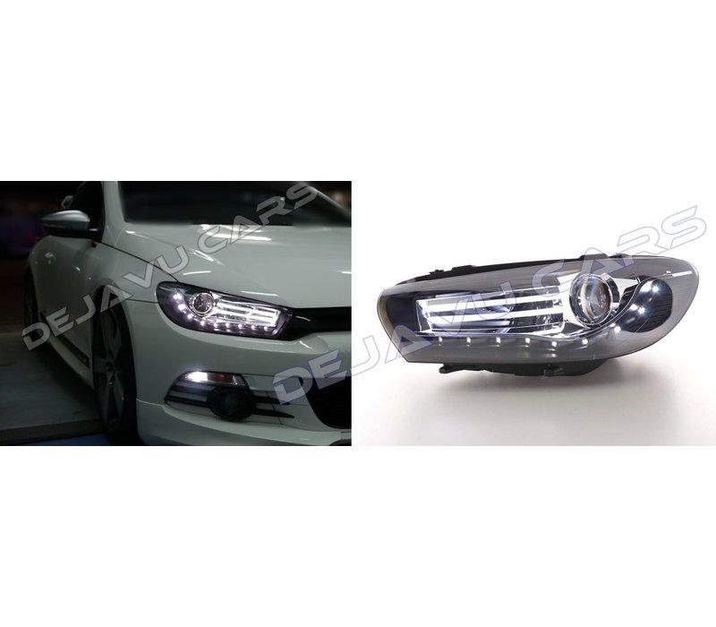 LED Headlights Bi Xenon look for Volkswagen Scirocco 3