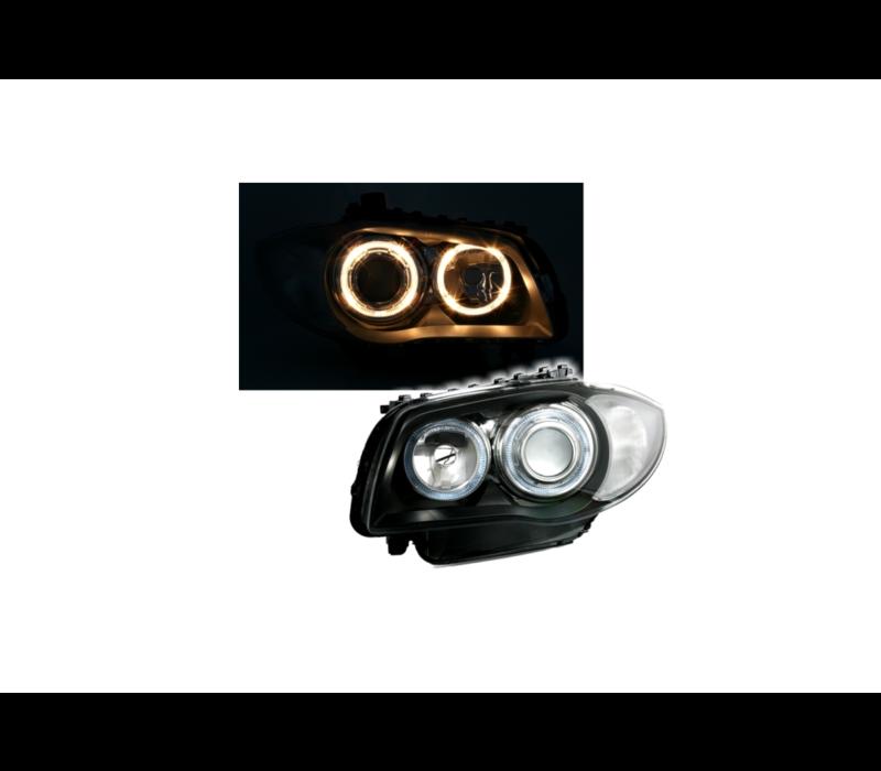 Xenon look Headlights with Angel Eyes for BMW 1 Series E81 E82 E87 E88