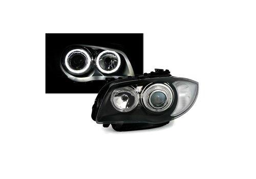 DEPO Xenon look Scheinwerfer mit LED Angel Eyes für BMW 1 Serie E81 E82 E87 E88