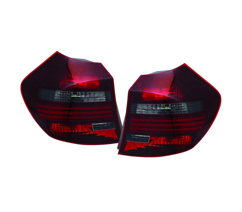 Rood/Smoke Achterlichten voor BMW 1 Serie E81 LCI / E87 LCI
