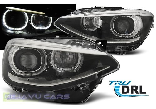 OEM LINE LED Headlights Bi Xenon look with Angel Eyes for BMW 1 Series F20 / F21