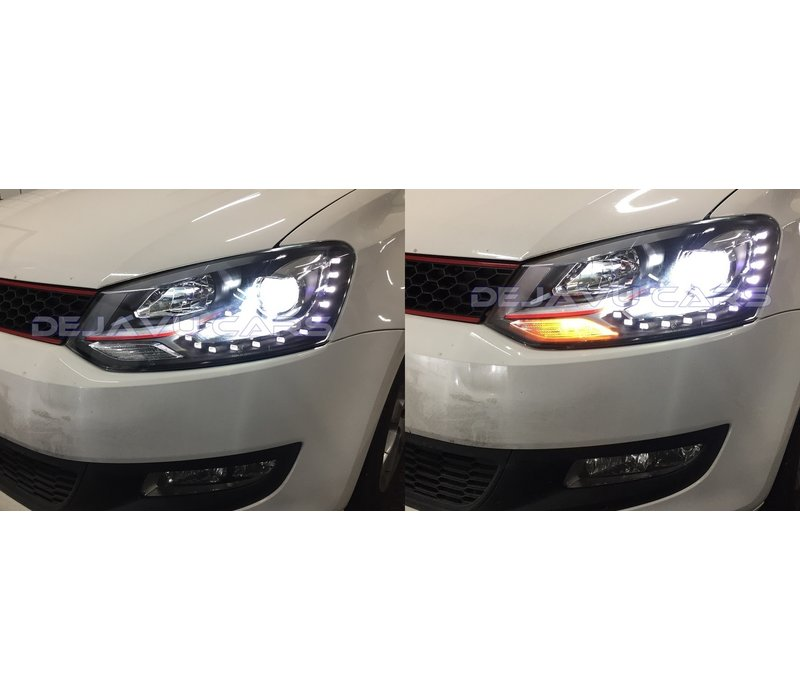 Bi Xenon GTI Look LED Headlights for Volkswagen Polo 6R / 6C