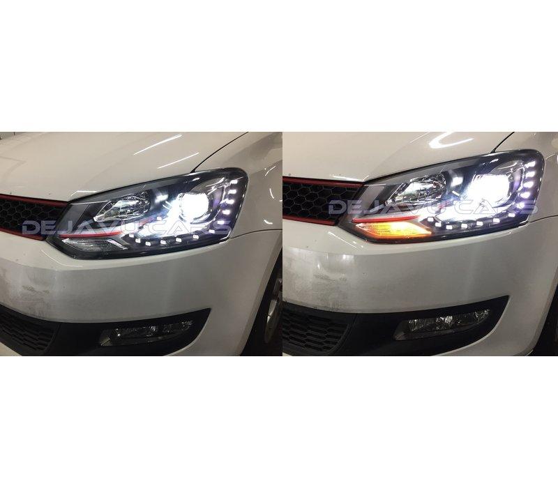 Bi Xenon GTI Look LED Scheinwerfer für Volkswagen Polo 6R / 6C