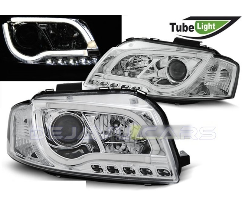 Xenon Look LED Headlights for Audi A3 8P