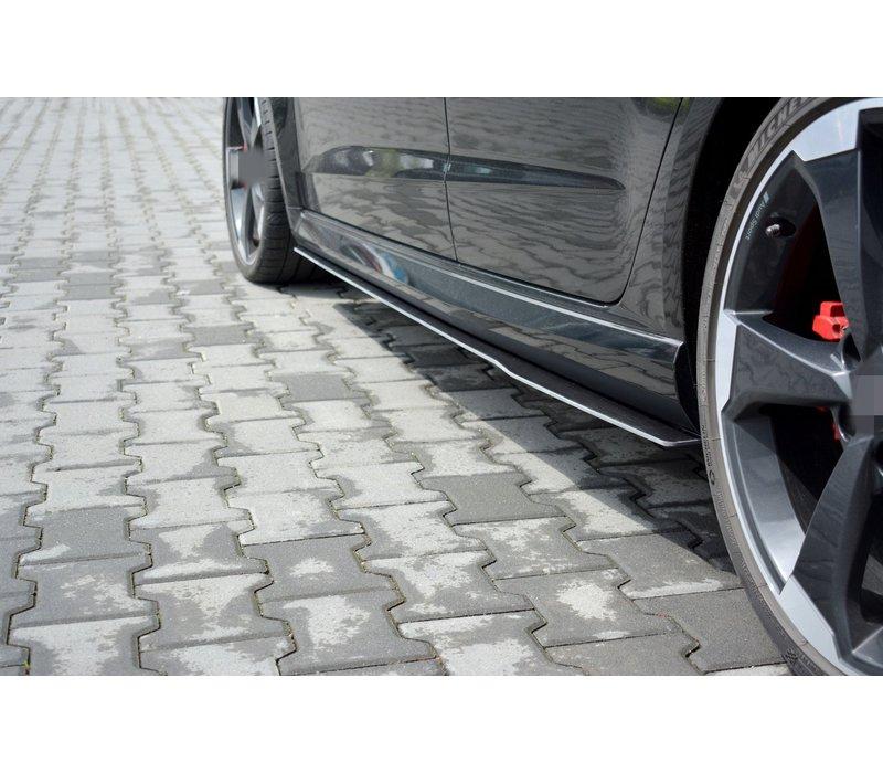 Racing Side skirts Diffuser voor V.1 Audi RS3 8V