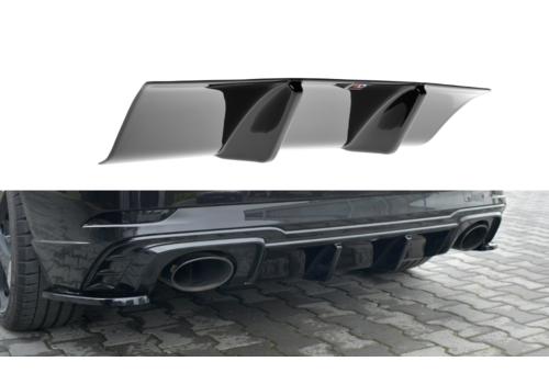 Maxton Design Aggressive Diffuser voor Audi RS3 8V