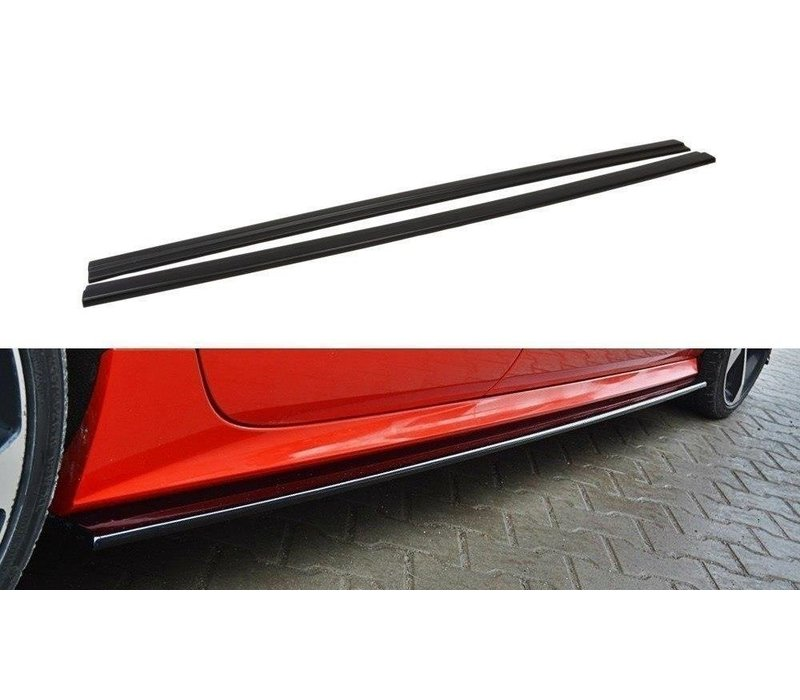 Side skirts Diffuser voor Audi A7 Facelift S line / S7