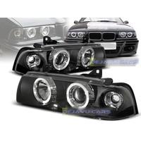 Xenon Look Koplampen met Angel Eyes voor BMW 3 Serie E36