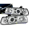OEM LINE® Xenon look Headlights with Angel Eyes for BMW 3 Series E36