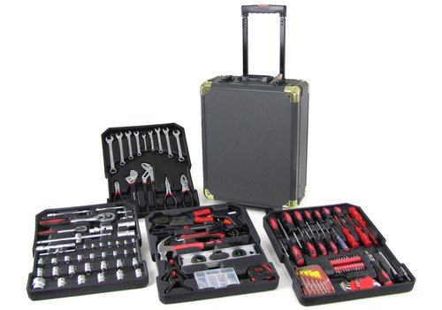OEM LINE Professional tool trolley workshop case box filled 186 pieces