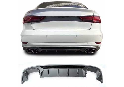 OEM LINE S3 Look Diffuser Platinum gray for Audi A3 8V
