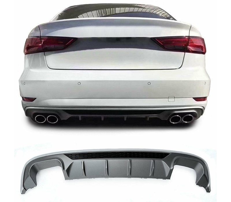 S3 Look Diffuser Platinum gray for Audi A3 8V