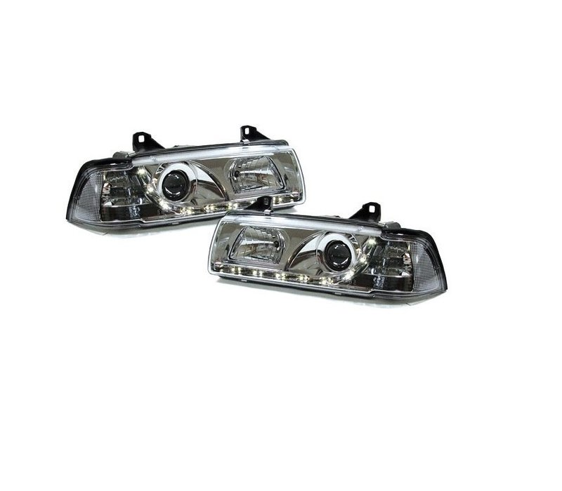 Xenon look Headlights with Devil Eyes for BMW 3 Series E36