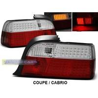 Rood/Wit LED Achterlichten voor BMW 3 Serie E36