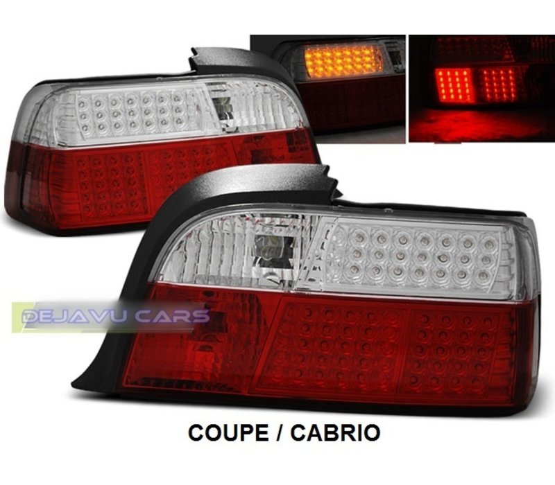 Rot / Weiss LED Rückleuchten für BMW 3 Serie E36
