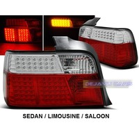 Red/White LED Tail Lights for BMW 3 Series E36