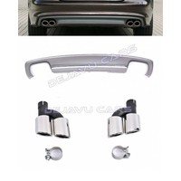 S7 Look Diffuser + Exhaust tail pipes for Audi A7 4G S line / S7